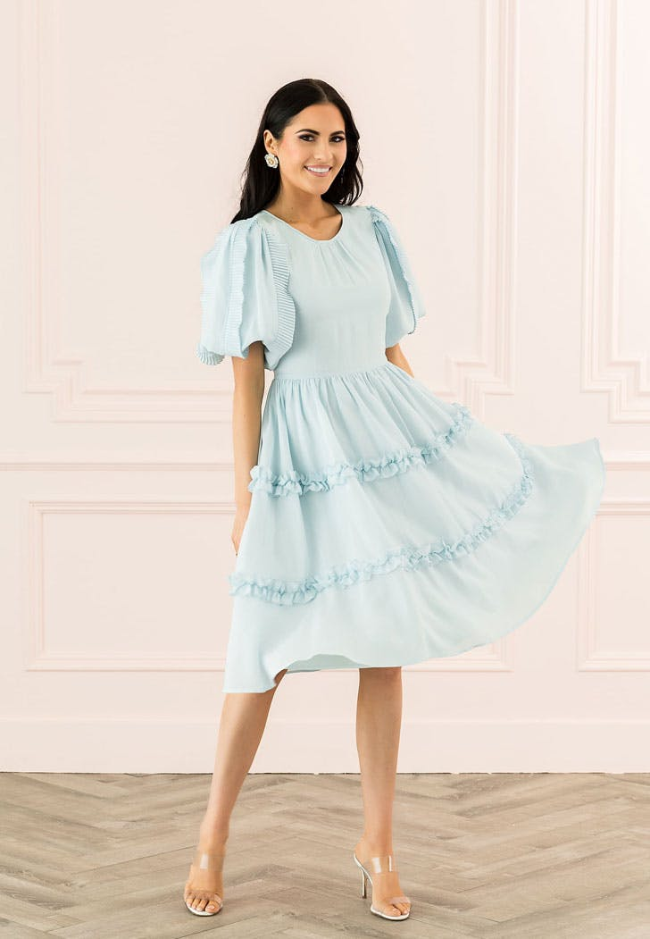 rachel parcell light blue dress