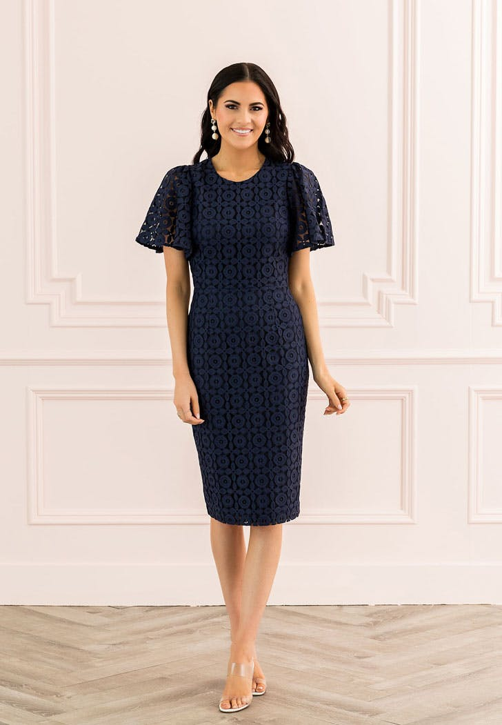 rachel parcell navy dress