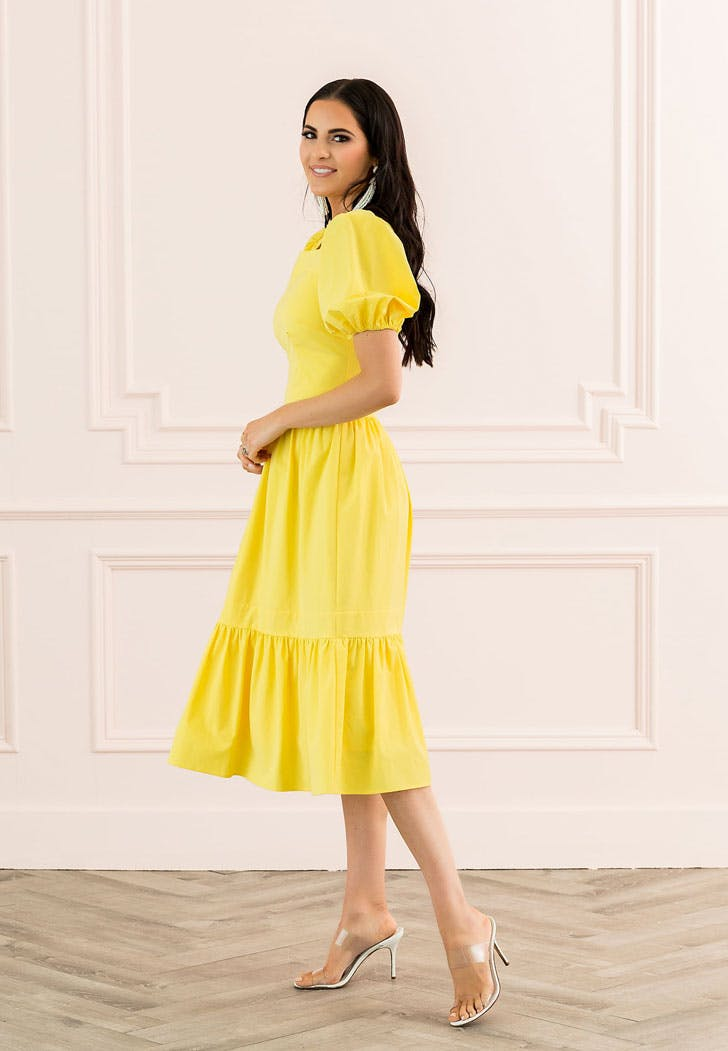 rachel parcell yellow dress