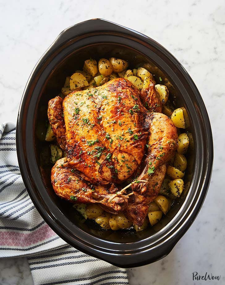 slow cooker whole chicken with potatoes 9211