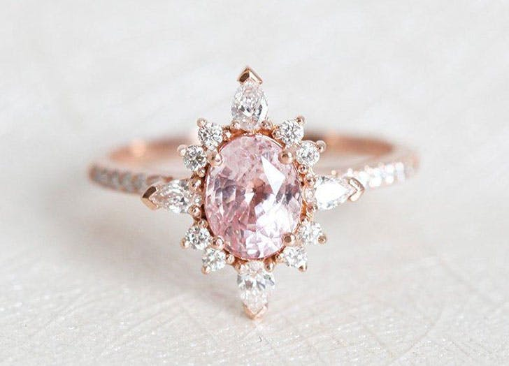 spiky engagement ring floral