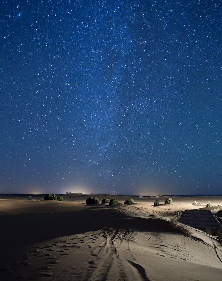 stargazing in the sahara