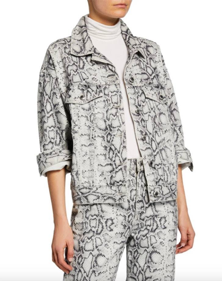 t alexander wang snake print jacket