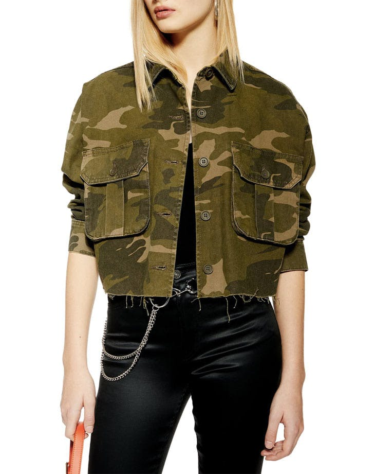 topshop cropped army jacket