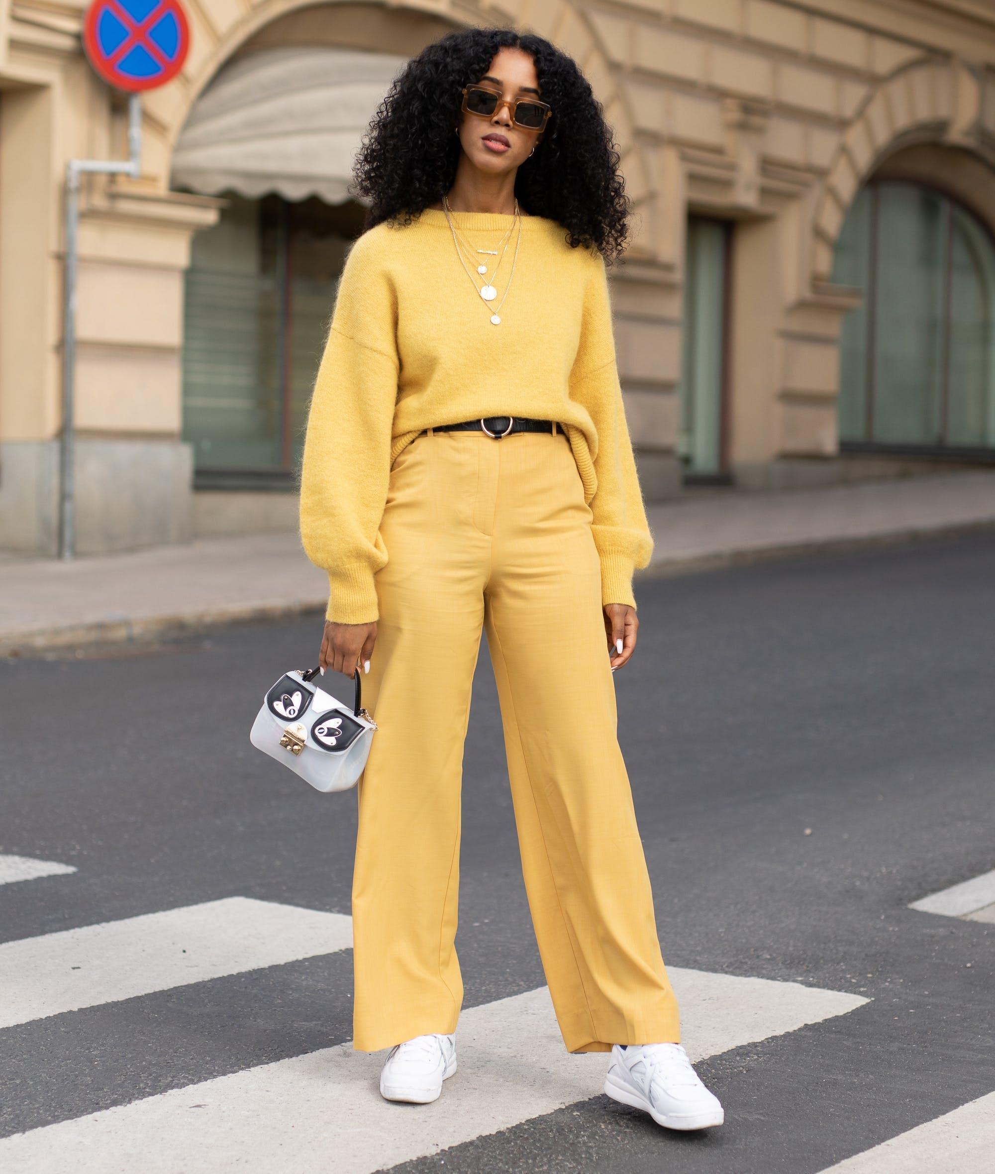 woman wearing all yellow1