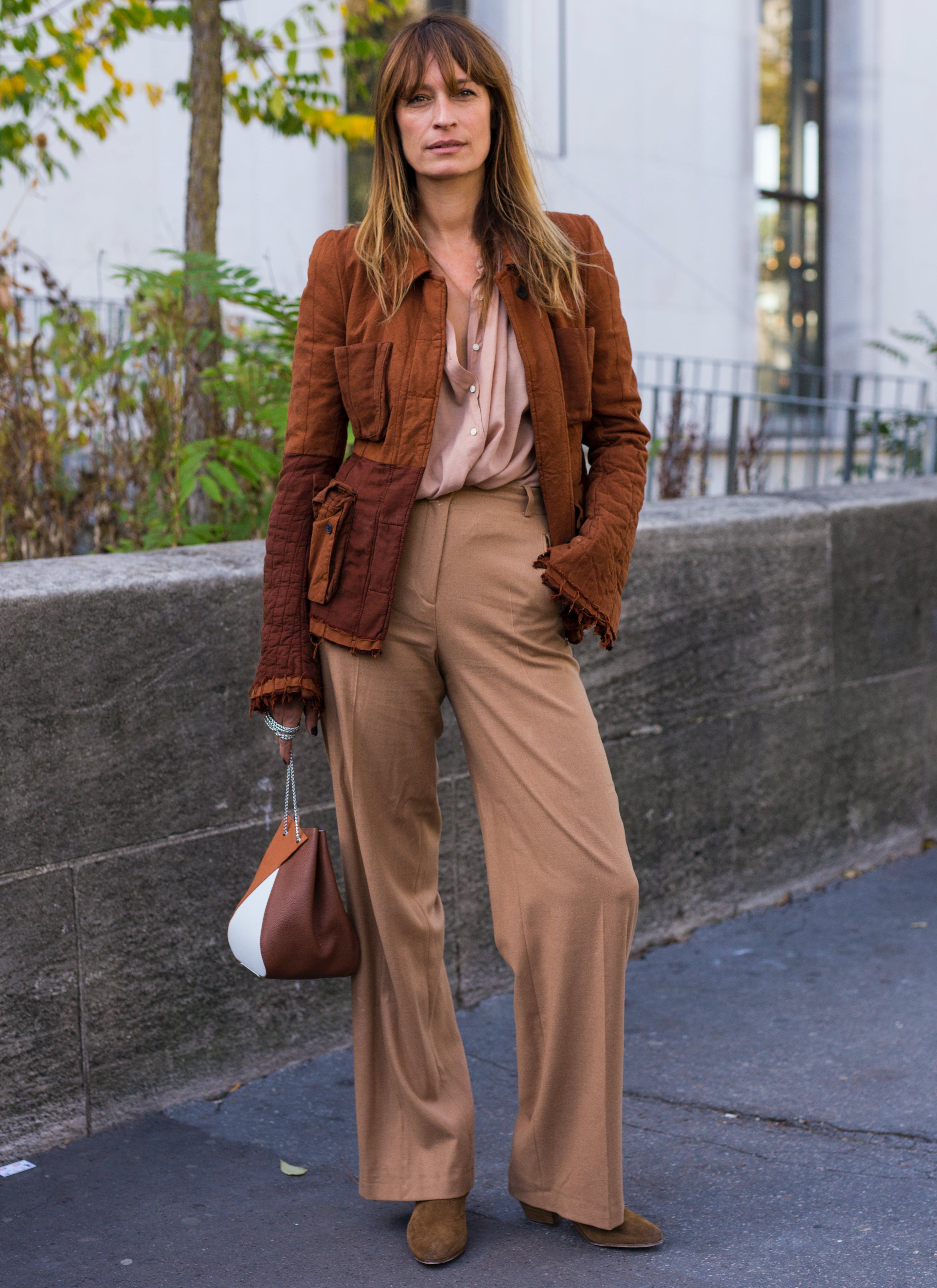 woman wearing shades of brown