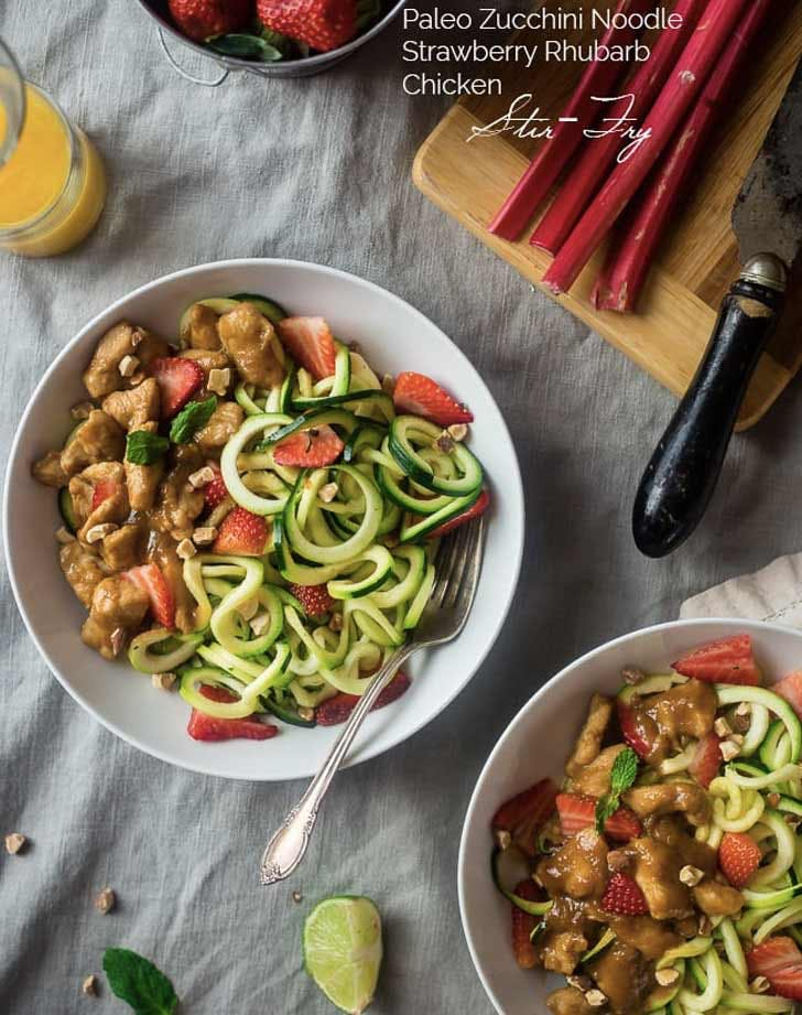 zoodle strawberry rhubarb chicken paleo pasta recipes
