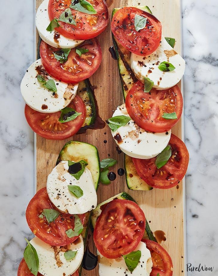 Caprese Salad With Grilled Zucchini Recipe