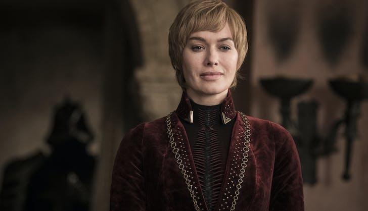 Cersei looking smug game of thrones