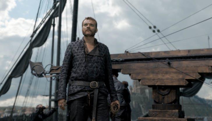 Euron Greyjoy on ship season 8 episode five game of thrones
