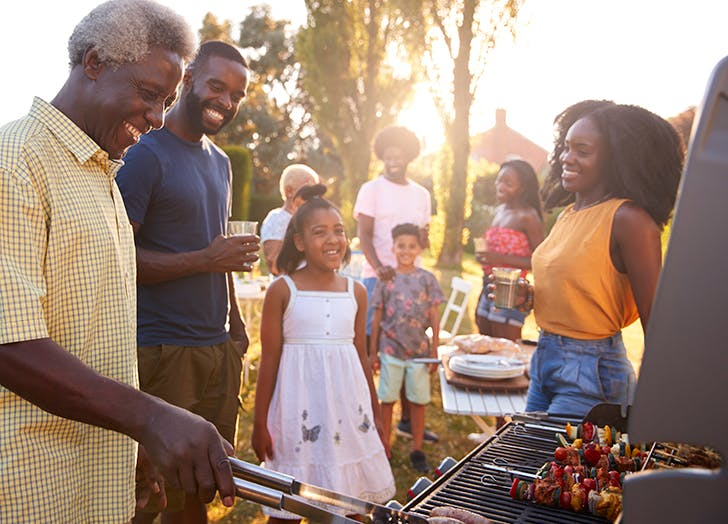 Fathers Day Activity Barbecue with family