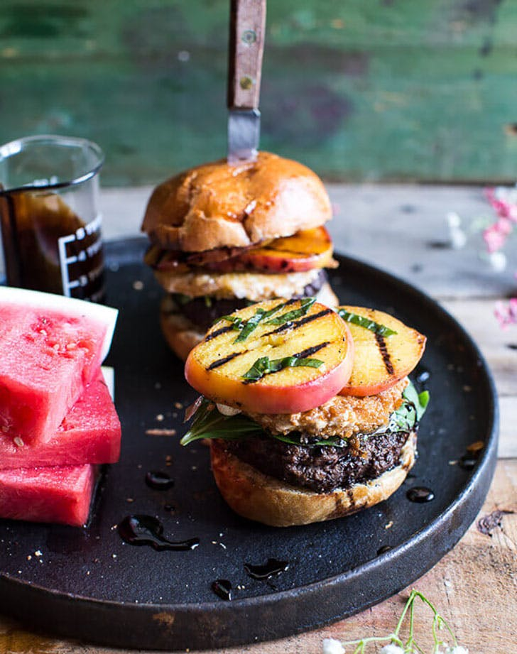 Fried Mozzarella and Caramelized Peach Caprese best burger recipes
