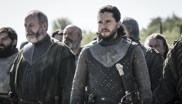 John Snow Ser Davos ready for battle