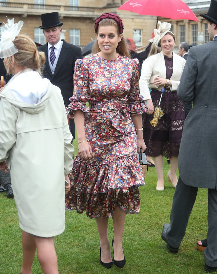 Princess Beatrice at royal family garden party
