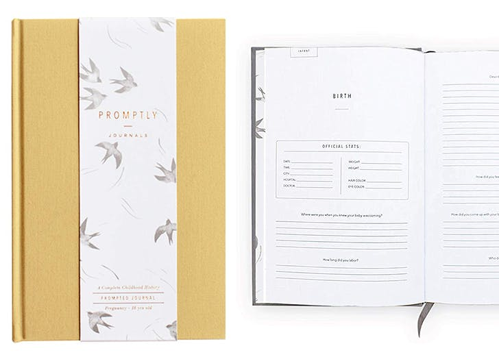 Promptly Baby Memory Book Journal