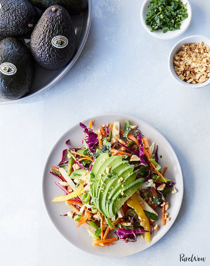 Shredded Thai Salad with Avocado