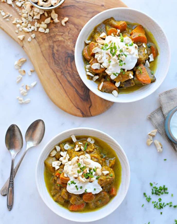 Slow Cooker Pumpkin Curry Beef Stew