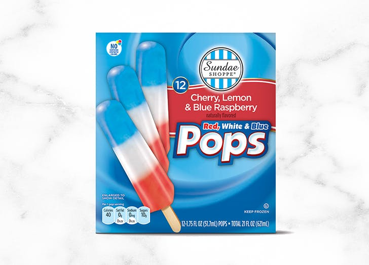 aldi sundae shoppe red white blue pops