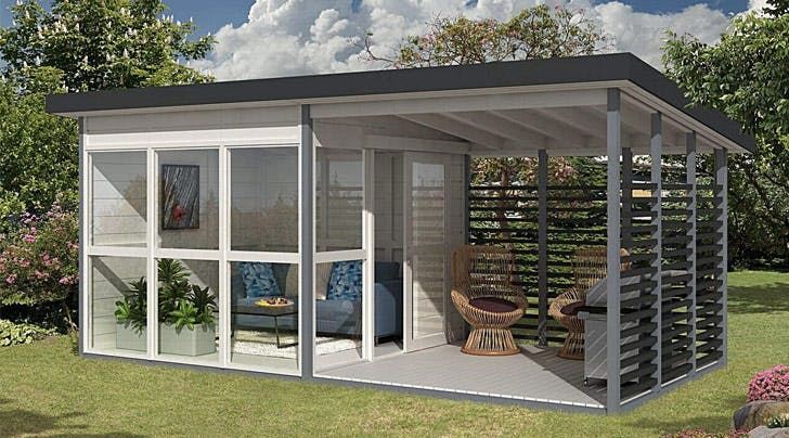 In-laws in Town? Amazon Is Selling a DIY Guest House You Can Build in Your Backyard (We're Serious)