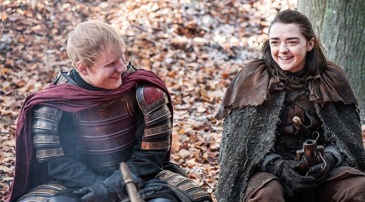 arya ed sheeran game of thrones