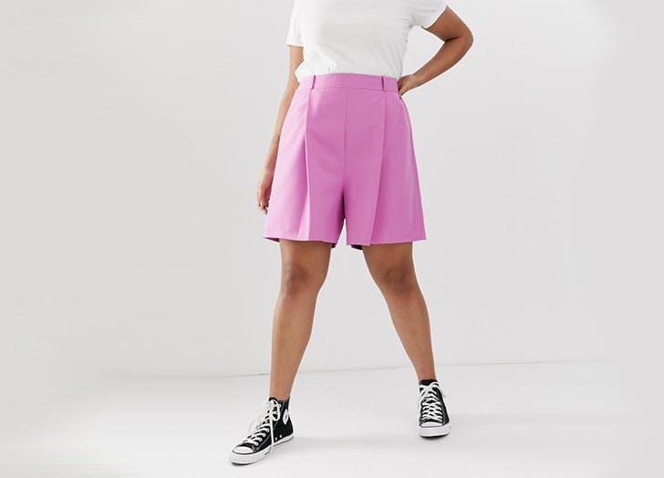 asos curve plus size shorts