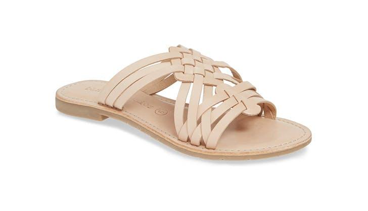 basket weave sandals