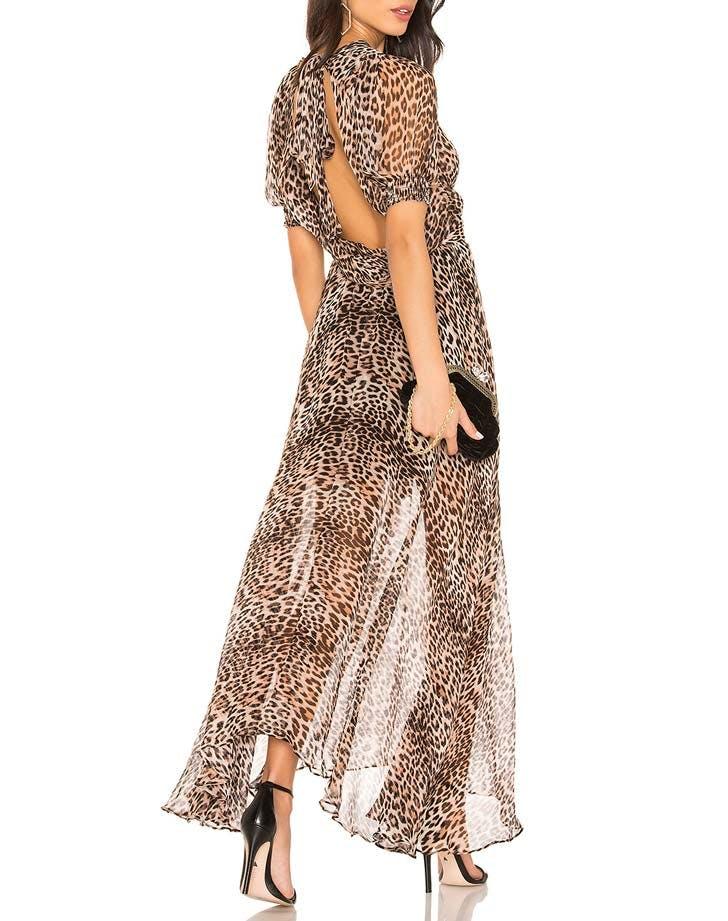 bec and bridge leopard print dress
