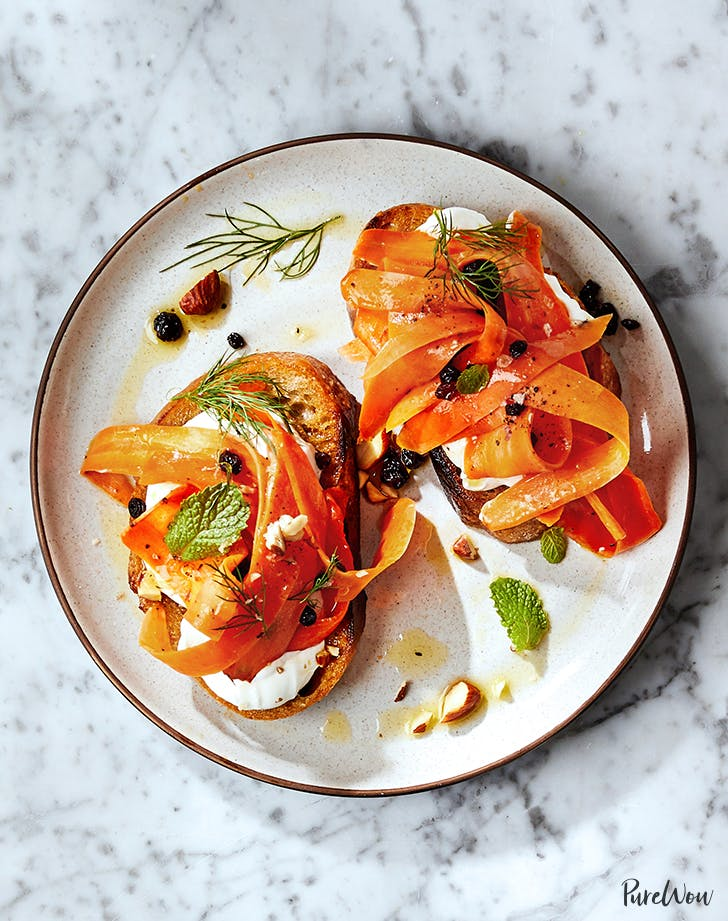 Shaved Moroccan Carrot Toast