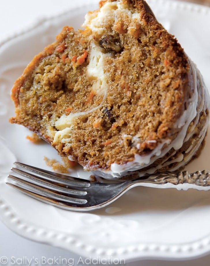 cheesecake swirl carrot bundt cake recipe