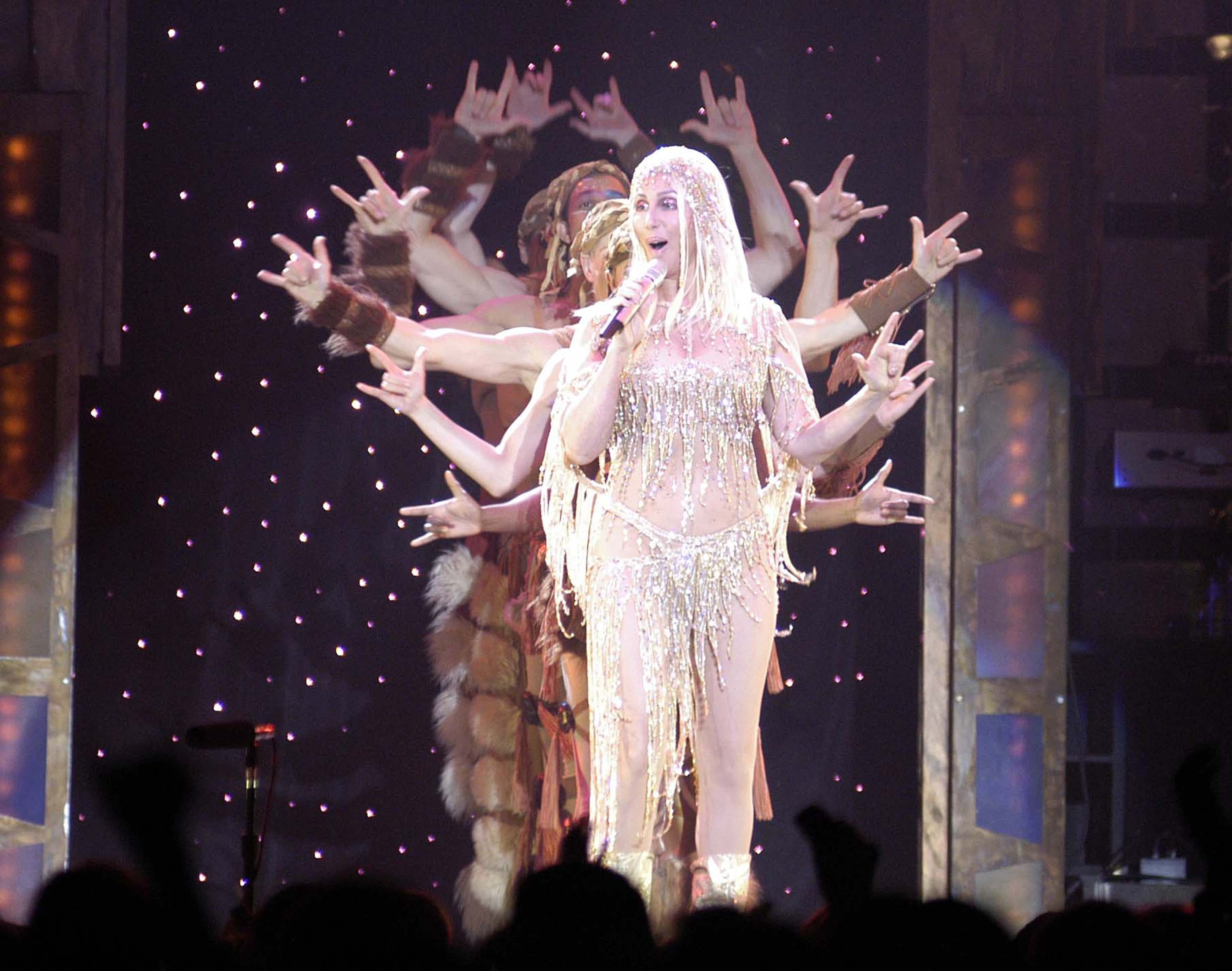 cher performing on stage