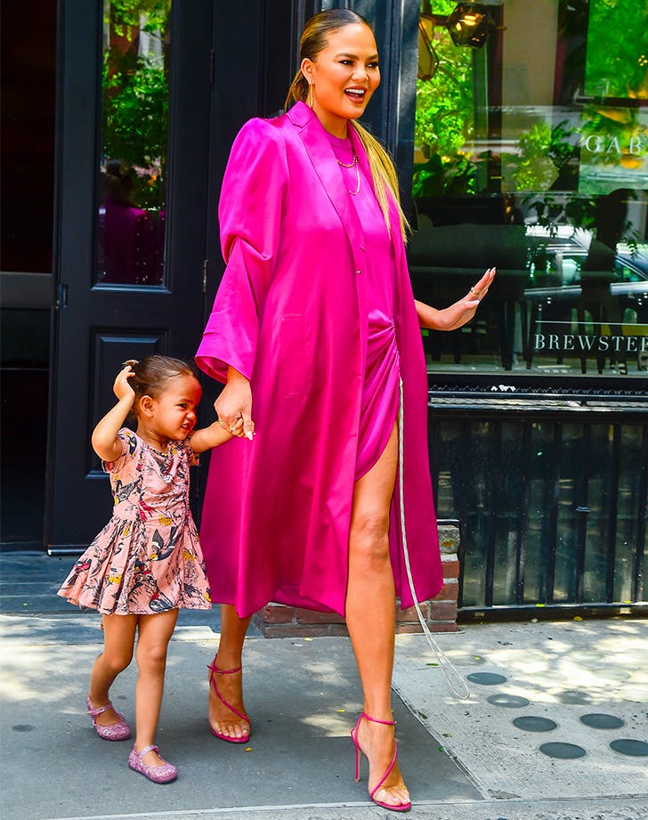 Chrissy Teigen Is Getting a Head-Start on Fall's Biggest Color