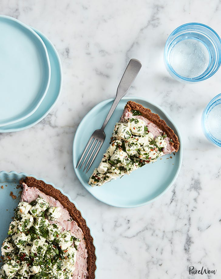 Whole-Wheat Feta Tart with Caramelized Onions and Herbs