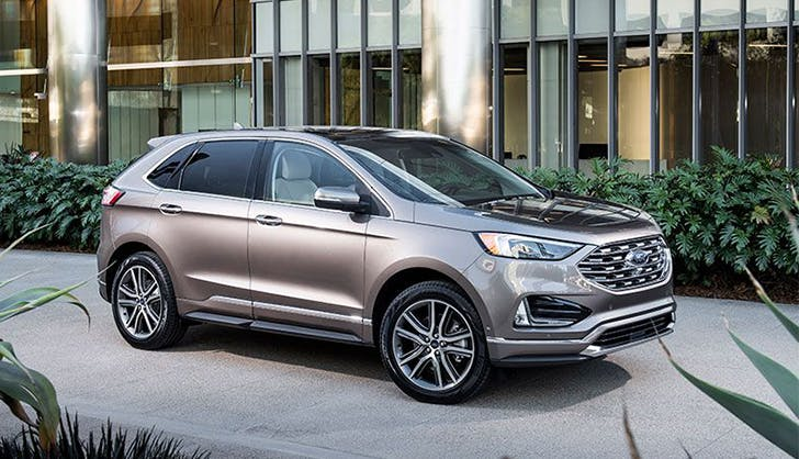 ford edge titanium suv car review parked