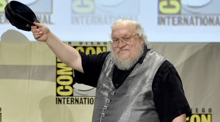 george rr martin tipping his hat