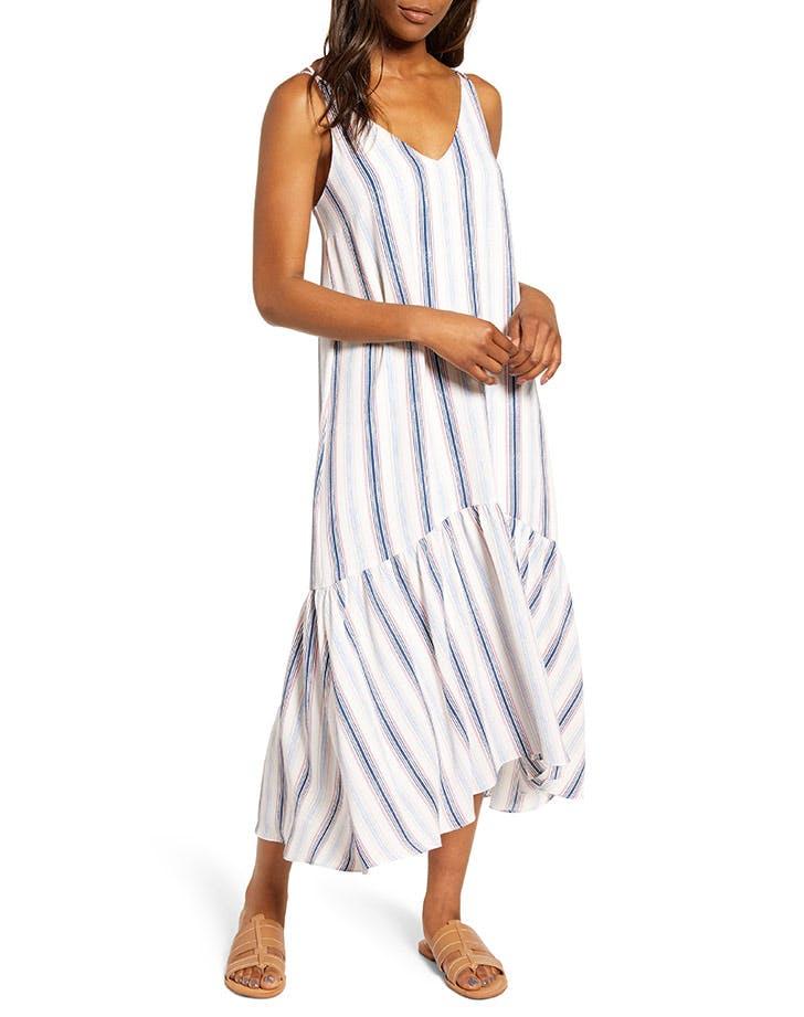 gibson x motherchic striped maxi dress