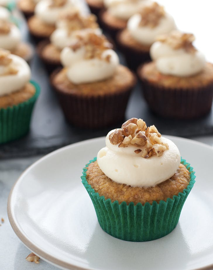 gluten free carrot cupcakes with honey cream cheese frosting recipe
