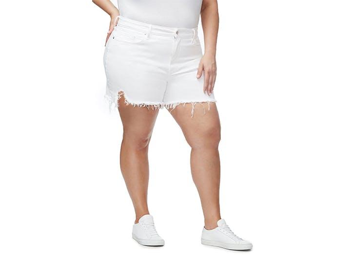 good american plus size shorts