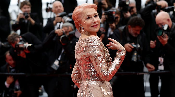 Dame Helen Mirren Debuted Bubble-Gum Pink Hair on the Cannes Red Carpet (and It's the Most Fun)