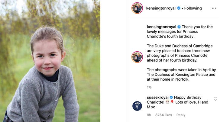 Meghan Markle and Prince Harry Posted a Message for Princess Charlottes Birthday (and This Is Why We Think Meghan Wrote It Herself)