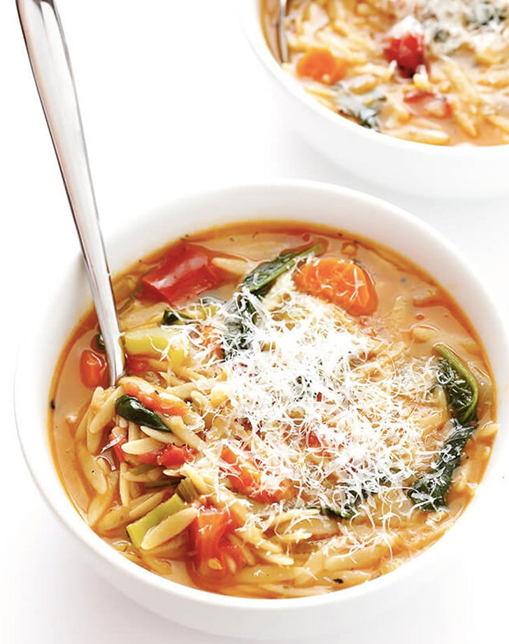 italian orzo spinach soup recipe