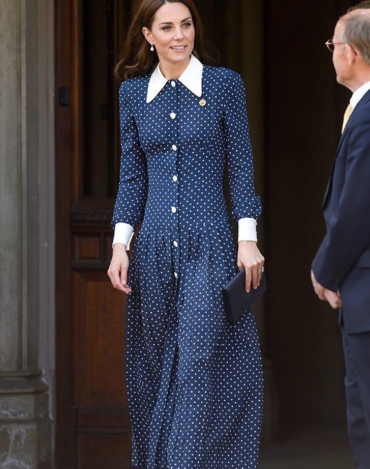 kate middleton polka dot dress2