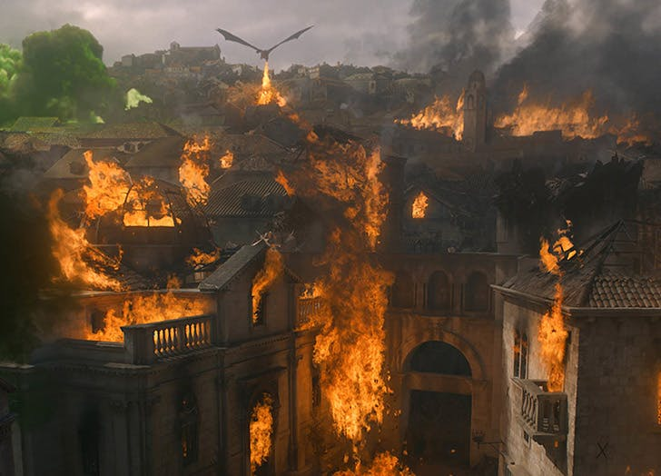 kings landing in flames