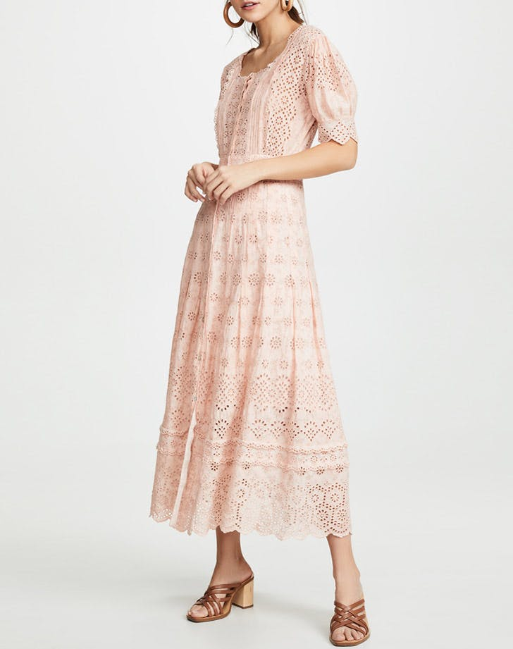 loveshackfancy lace midi dress