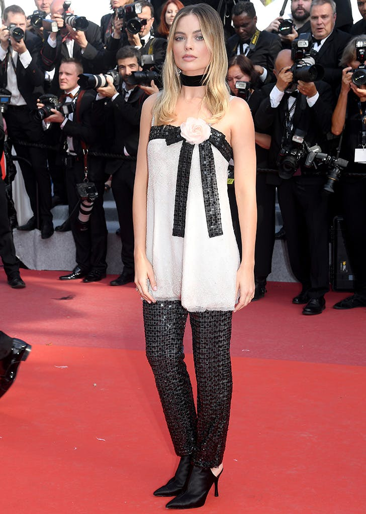 margot robbie in chanel at cannes