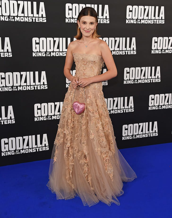 millie bobby brown at the premiere of godzilla