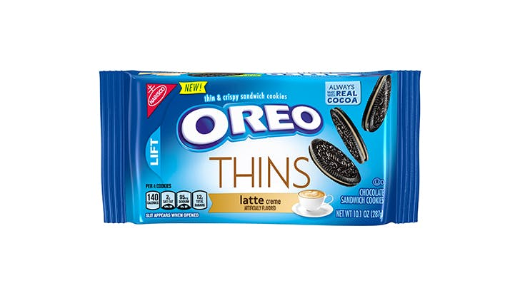 oreo thins latte package