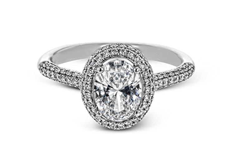 oval diamond cut ring