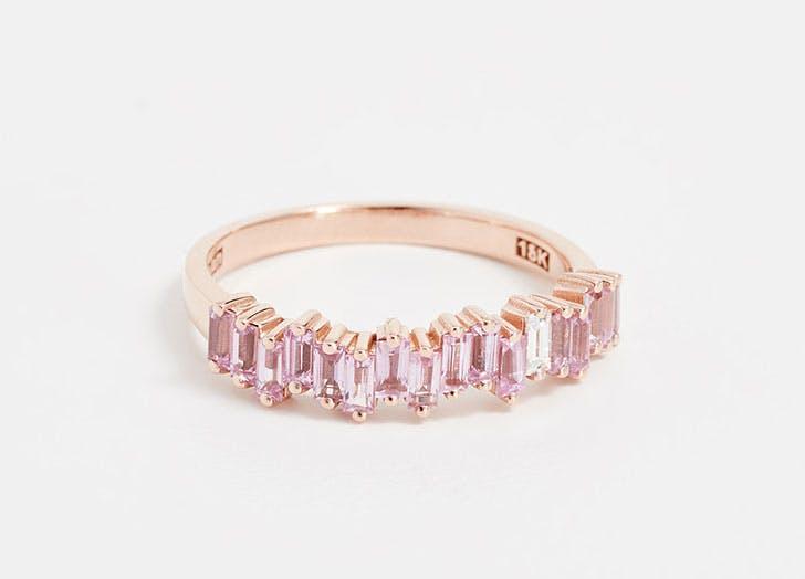 pink sapphire baguettes