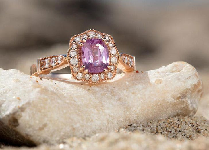 pink sapphire engagement ring 1