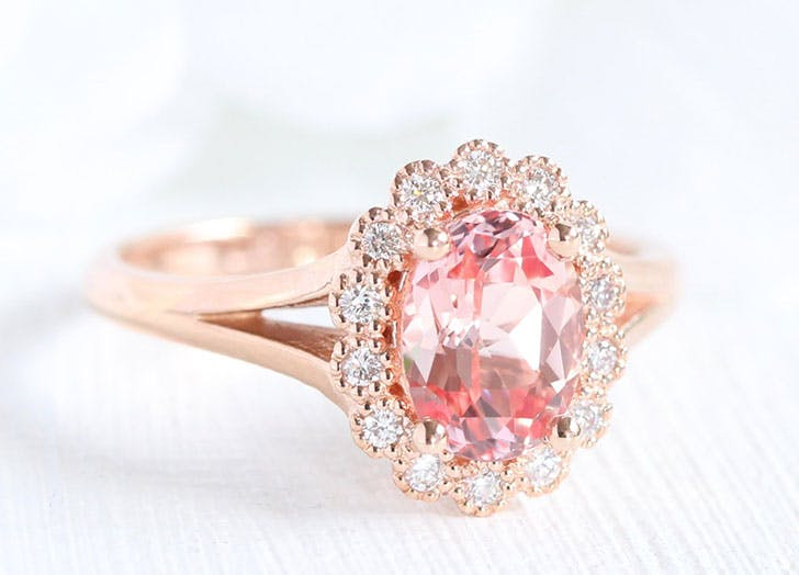 pink sapphire engagement ring 5